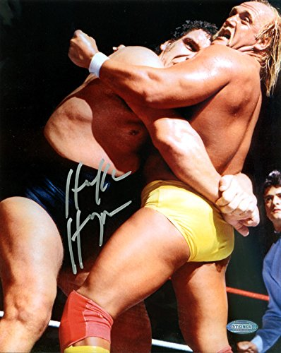 Hulk Hogan Signed 8x10 Photo WWE With Andre the Giant Steiner from Sports Collectibles Online