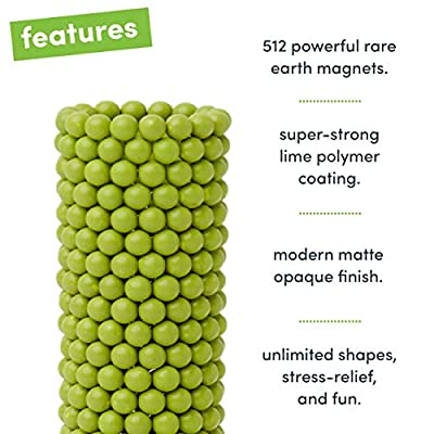 Speks Magnetic Balls - Matte Lime Set of 512 (2.5mm) - Fun Stress Relief Desk Toy for Adults - Mashable Smashable Buildable: Toys & Games