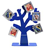 Polaroid Family Tree Frame – Tree with Stand & Five Magnetic Mini-Picture Frames (Blue) For Zink 2x3 Photo Paper Pojects (Snap, Zip, Z2300)