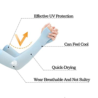 3 Pairs Cuff Arm Guard Cool Ice Silk Practical Arm Sleeves for Outdoor Traveling