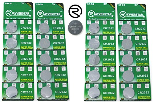 - Rayverstar CR2032 3V Lithium Battery 20-Pack (4 x 5-Pack) Super Cell Technology. Long Lasting 3 Volt Batteries. Replaces: BR2032, DL2032, SB-T15, 2032, EA2032C, ECR2032