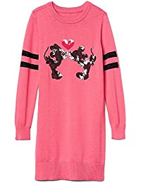 Kids Girls Disney Mickey & Minnie Mouse Pink Sequin Sweater Dress Medium 8 · GAP