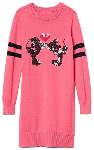 GAP Kids Girls Disney Mickey & Minnie Mouse Pink Sequin Sweater Dress XL ()