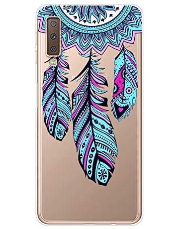 Herbests compatibles con Samsung Galaxy A7 2018 Funda de Silicone, Carcasa de Hermoso Lindo Pintado