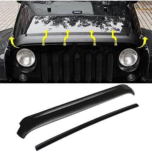 Hood & Tailgate Protector Cover Set Fit for Jeep Wrangler 2004-2017 2&4 Doors