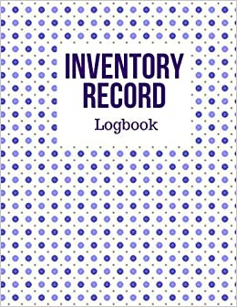 amazon com inventory record logbook track inventory level