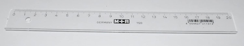 Lineal Kunststoff transparent 20cm lang
