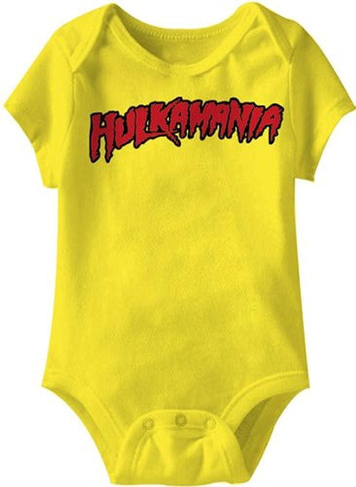 Hulkamania Hulk Hogan Logo Gelb Snapsuit Infant Onesie Baby Romper