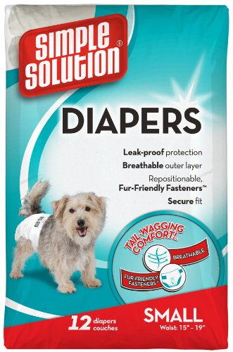 UPC 010279105795, Simple Solution Disposable,Small Dog Diaper, 12 count