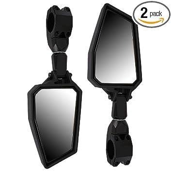 1 Pair UTV Offroad Side Mirror Aluminium Alloy Rear View Mirrors 1.75 Bar for Polaris RZR 1000 XP Arctic Cat Kawasaki and More
