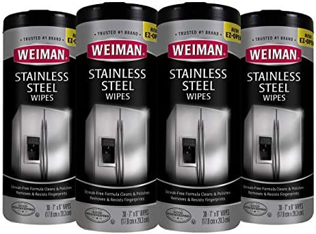 Weiman Stainless Steel Wipes Refrigerators