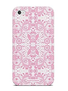 Inspired Cases Lace Pattern - Light Pink Case for iPhone 4 & 4s-3D Textured Design