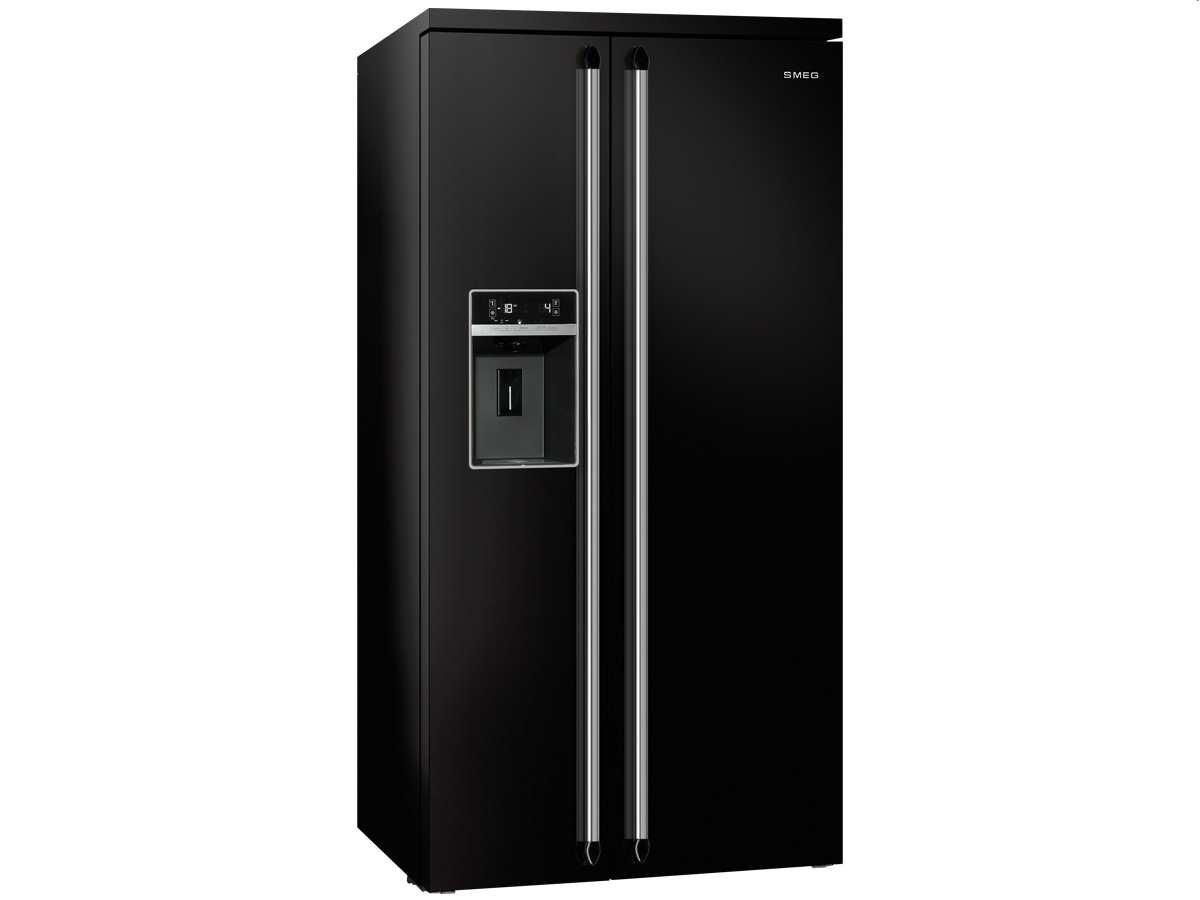 Smeg Kühlschrank Grau : Smeg sbs n side by side kühl gefrier kombination schwarz eek a