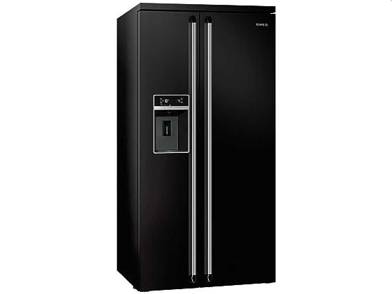 Smeg Kühlschrank Wasser Läuft Aus : Smeg sbs n side by side kühl gefrier kombination schwarz eek a