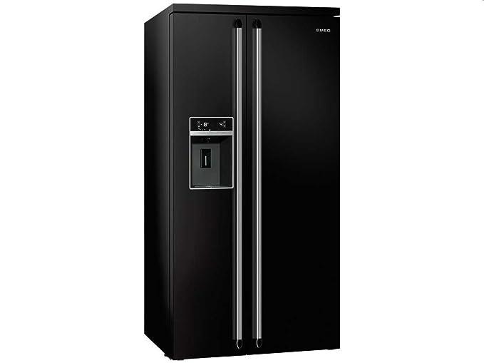 Smeg Kühlschrank Victoria : Smeg sbs n side by side kühl gefrier kombination schwarz eek a