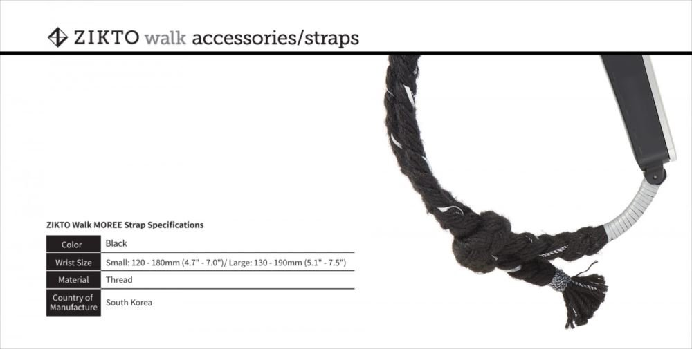 MU Sports Zikto Walk Moree Wish Misanga Bracelet Strap Energy black Large (List Size: 13-19 cm) Golf Wear/Women's Vest/Women's Complete Sets/Golf-Club-Complete-Sets by MU Sports (Image #4)