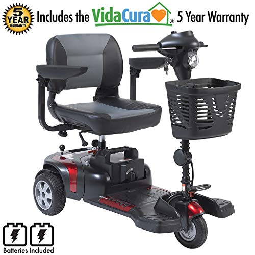 """Drive Medical Phoenix 3 Wheel Heavy Duty Scooter, 17.5"""" Wide Seat Including 5 Year Extended (Phoenix 3 Wheel Scooter)"""