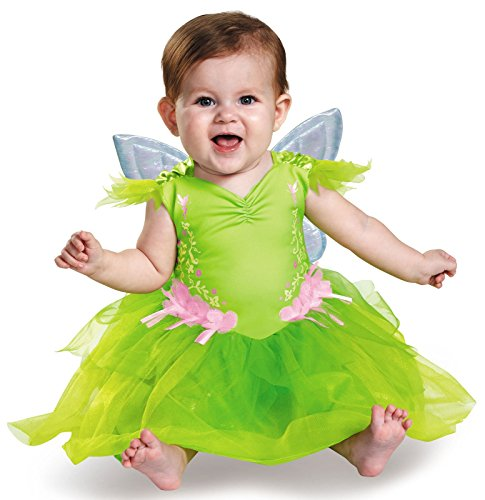 Box Baby Costumes (Disguise Baby Girls' Tinker Bell Deluxe Infant Costume, Green, 6-12 Months)
