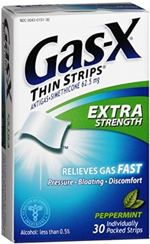 Gas-X Thin Strips Extra Strength Peppermint 30 Each (Pack of 6) by Gas-X