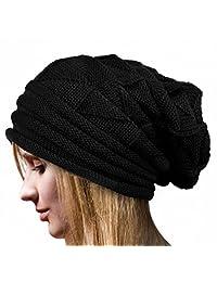 Mapletop Wool Caps Women Winter Warm Crochet Hat Knit Beanie