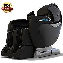 Medical Breakthrough 4 Massage Chair Recliner - Zero Gravity, Built-in Heat, Deep Tissue Shiatsu Massage, and Back Stretch (Black)
