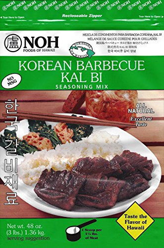 NOH Foods of Hawaii Korean Barbecue  Seasoning Mix, Kalbi, 3