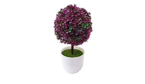 Bolas de césped artificial flor olla simulación planta Bonsai balcón planta de interior Set