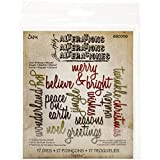 Sizzix Script Holiday Words Thinlits Dies by Tim Holtz, 17-Pack