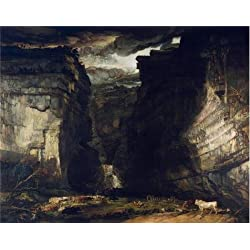The Perfect Effect Canvas Of Oil Painting 'James Ward - Gordale Scar (A View Of Gordale, In The Manor Of East Malham In Craven, Yorkshire, The Property Of Lord Ri' ,size: 12x15 Inch / 30x39 Cm ,this High Definition Art Decorative Prints On Canvas Is Fit