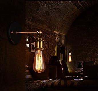 YUENSLIGHTING 2 Pack Holz Tischlampe Vintage Schreibtisch Lampe E27 Edison Birne Retro Industrial Dimmable Nachtlicht f/ür Schlafzimmer Wohnzimmer Home Art Display Cafe Studio Antique D/écor