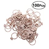 BESTOYARD Double Sided Super Flash Golden Rings Shape Confetti Table Decor for Wedding Party Birthday Supplies 100Pcs