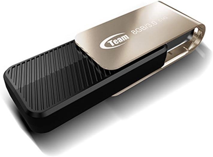 Pen Drive Blue Mac PC Windows 10//8 // 7 // Vista//XP Linux 2.4.2 Compatible 16GB TEAM USB 3.0 Flash Drive Swivel Design Durable Stainless with Strap Hole