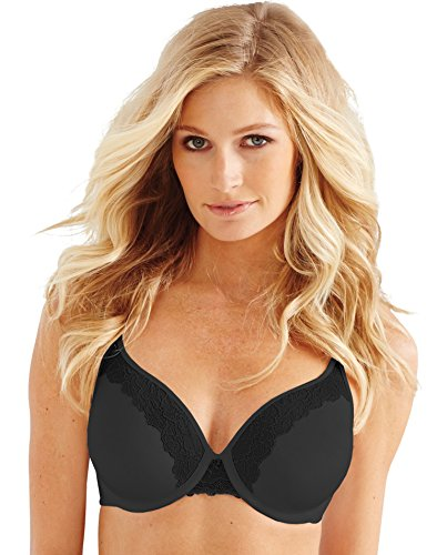 Bali Women's Bali One Smooth U Ultra Light Lace with Lift Underwire, Black, 34DDD ()