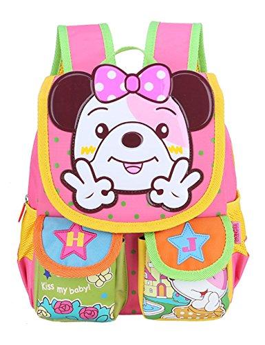Fifriver Cute Kids Backpack - Toddler Waterproof School BookBag - Durable Children Travel Bag for Boys and Girls (Pink)