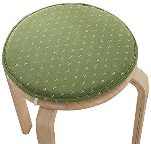Round Stool Cushion Warm Sponge Pad Bar Stool Mat Green by Black Temptation
