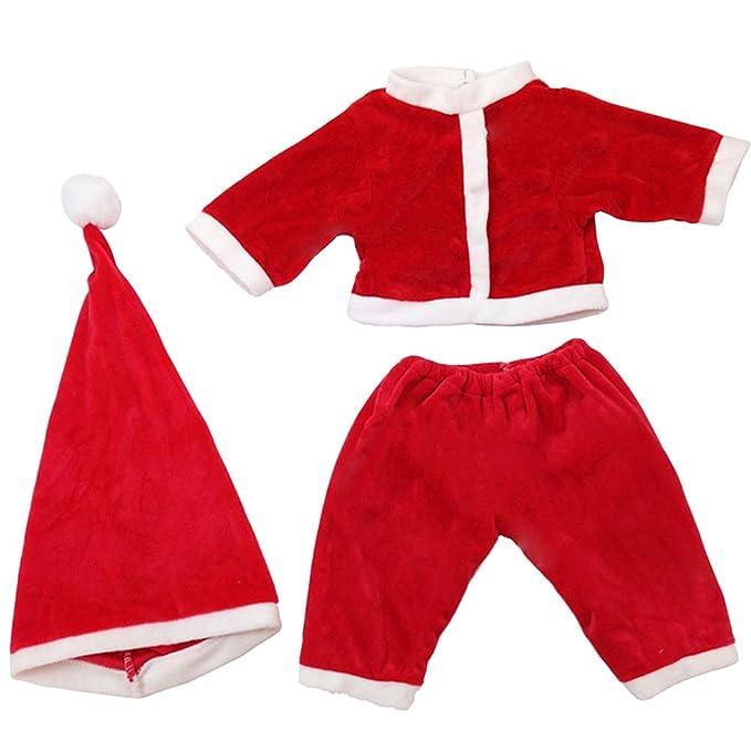 YeahiBaby 3 Piezas Traje de Papá Noel de Bebé Vestido de ...