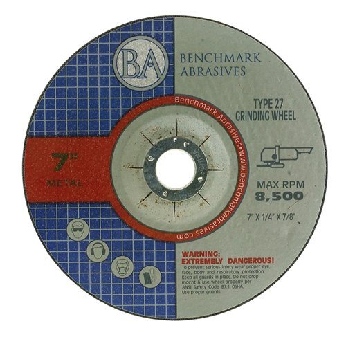 7''x1/4''x7/8'' Pro Depressed Center Grinding Wheel - 10 Pack by Benchmark Abrasives