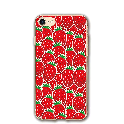 Haixia IPhone 7/8 Phone Case 4.7 Inch Fruits Strawberry Themed Botany Seeds Yummy Food Organic Growth Diet Health Print Decorative Red Hunter Green ()