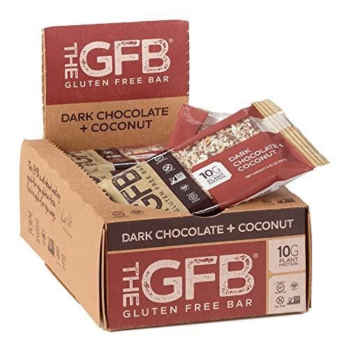 The GFB Protein Bars, Dark Chocolate Coconut, 2.05 Oz (Pack Of 12), Gluten Free, Non Gmo