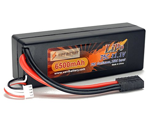 - 51putSEy1 2BL - 11.1V 6500mAh 3S Cell 75C-150C HardCase LiPo Battery Pack w/ Traxxas High Current Style Connector