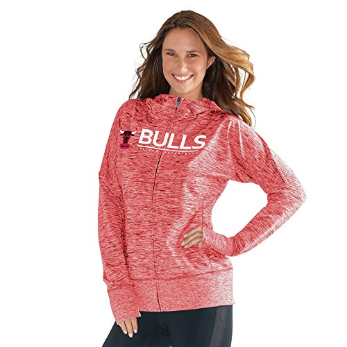 NBA Chicago Bulls Women's Receiver Hoody, X-Large, Red by GIII For Her