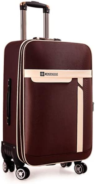Simple and Simple Soft Case Color : Brown, Size : 20 Purple The Latest Style 20//22 Inches Rotating Suitcase Guyuexuan Carry Suitcase