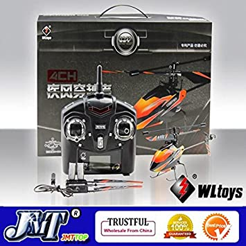617fa38ac Amazon.com   F02412 V911 4CH 4 Channel 2.4G Outdoor Mini Radio Control  Single Propeller RC Helicopter Gyro RTF Best Gift Toy + Freeship   Baby