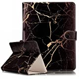 Universal 8 Inch Tablet Case,Gift_Source [Card Slots]Premium Slim PU Leather Holster Flip Magnetic Case Folio Stand Cover for Compatible with All Universal 8 inch Tablet [Black gold marble]