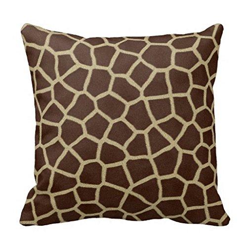 Decorative Giraffe Skin Fur Animal Print Pattern Pillowcase 18x18 (Giraffe Fur Pillow)