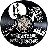 Vinyl Record Clock Nightmare Before Christmas Wall Decoration