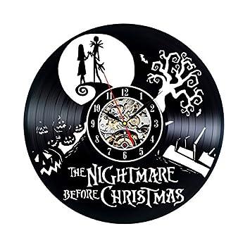 Amazon.com: Vinyl Record Clock Nightmare Before Christmas Wall ...