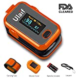 Ulaif Fingertip Pulse Oximeter with OLED Display Portable Oximetry Blood Oxygen Saturation Monitor