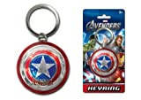 Captain America Shield Key chain Key ring Pewter Color Metal Figural