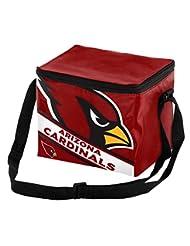 Arizona Cardinals Big Logo Stripe 6 Pack Cooler